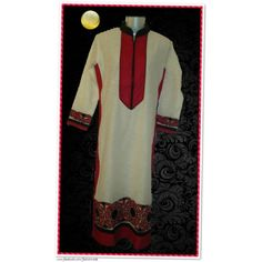 Elegant Kurti with beautiful applique work.  	# Pakistani style long shirt.  	# Applique work on border, sleeves & back.  	# Hemming with thread.  	# Smoked border.  	# Boota on back.  	# Band neck  	# Semi stitched, length- 50 in  	# Pure Linen