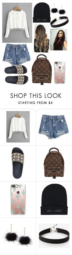 """""""Untitled #103"""" by kyliekaylabeer ❤ liked on Polyvore featuring Gucci, Louis Vuitton, Casetify and Express"""