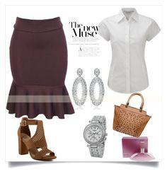A fashion look from May 2017 featuring bodycon skirt, high heeled footwear and brown purse. Browse and shop related looks. Polyvore Fashion, Fashion Outfits, Shoe Bag, Clothing, Stuff To Buy, Shopping, Shoes, Collection, Design