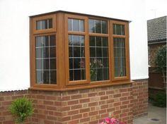 light oak square bay windows - Google Search Bay Windows, Window Styles, Lounge Ideas, Butler Pantry, Window Seats, Light Oak, House Front, Home Improvement, Decor Ideas