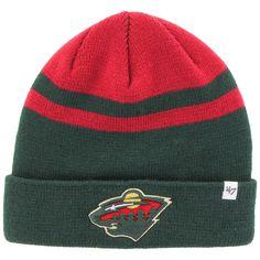 sports shoes e74c4 c4232 Minnesota Wild  47 Cedarwood Cuffed Knit Hat - Green Red