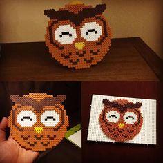Owl hama beads by  polska_sandra                                                                                                                                                     Mehr