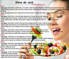 Dieta de vară Healthy Diet Recipes, Healthy Eating, Eat Smart, Healthy Choices, Health Tips, Healthy Lifestyle, Health Fitness, Lose Weight, Food And Drink