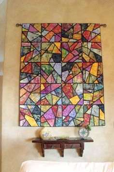 Batik stained glass quilt (doesn't seem to be a repeating pattern)