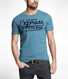 FITTED GRAPHIC TEE - EXPRESS UNIVERSITY at Express
