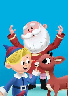 More Rudolph art Christmas Scenes, Christmas Music, Christmas Images, Christmas Tag, A Christmas Story, Christmas Crafts, Christmas Albums, Rudolph Red Nosed Reindeer, Rudolph Christmas