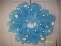 It's A Boy! Mesh Wreath