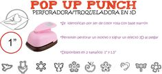 "Flow Insumos Creativos: POP UP PUNCH 1""- PERFORADORA/TROQUELADORA EN 3D"