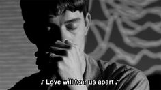 love will tear us apart by joy division // ian curtis gif