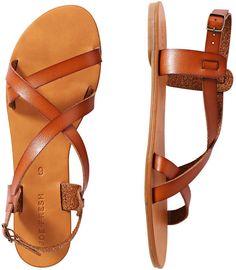 Joe Fresh Crisscross Strap Sandals - Tan- ON SALE 7$