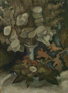 Vase with Honesty, 1884 - 1885, Vincent van Gogh, Van Gogh Museum, Amsterdam (Vincent van Gogh Foundation)