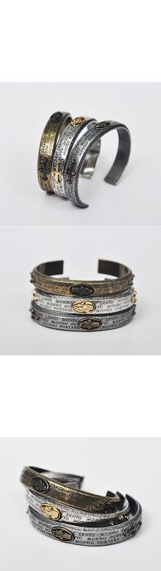 Accessories :: Antique Lord's Prayer Bangle-Bracelet 64 - Mens Fashion Clothing For An Attractive Guy Look