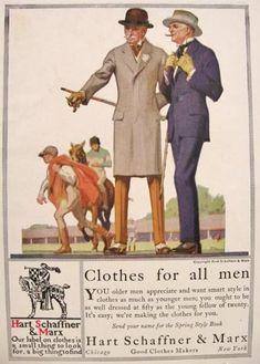 vintage mens fashion ads | ... Marx Mens Fashion Ad ~ Racetrack, Vintage Clothing & Accessory Ads
