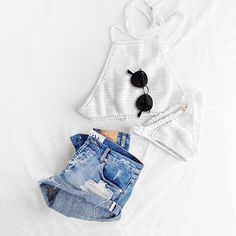 """Summer uniform! #oneteaspoondenim #rayban"" by @vivi_nygaard on Instagram http://ift.tt/1QEfWok"