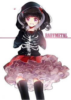 Babymetal fan art by Shuua>>> I still want that hoodie.