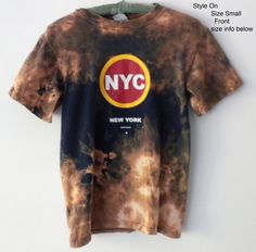 Graphic Tee Shirt Up-cycled New York City Tee shirt Tie by Styleon