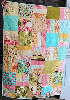 Layer cake quilt.