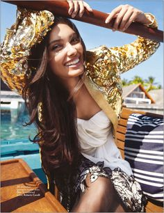 Natural beauty Diana Penty for Vogue India, July 2012