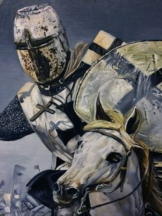 Charging Teutonic Knight in the snow