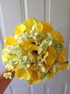 CBR114 Riviera Maya weddings / Bodas ramo de  amarillas y  blanca/ boquet  white and yellow