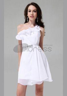 Short Prom Dresses / A-line One Shoulder Sleeveless Short/ Mini Short Prom Dresses / http://www.thdress.com/A-line-One-Shoulder-Sleeveless-Short-Mini-Short-Prom-Dresses-p853.html