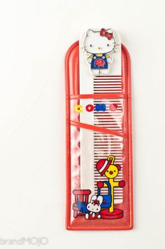 Vintage Hello Kitty Sanrio comb and case japan retro 1970s