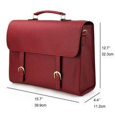 d887fabd0885 Estarer Women Laptop Satchel Handbag 15.6 inch PU Leather Work Briefcase Teenage  Girls College School Bag