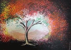 dotted tree painting