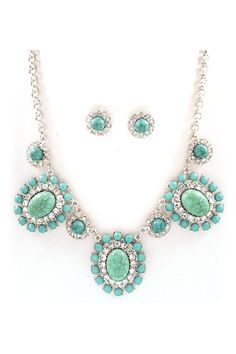 Bella Necklace Set in Turquoise