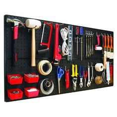 pegboard organizer for tools and hardware