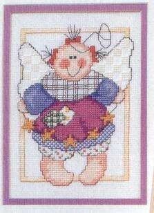 Schema punto croce Piccoli Angeli Patch 02