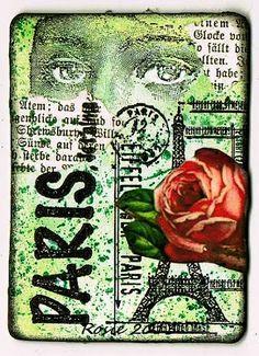 Rosie's Bastelwelt: Paris - Je t'aime - ATC