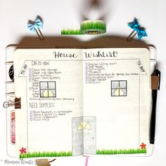 House Wishlist | These 20+ bullet journal spreads will get you started on an amazing year! Get organized and keep track of your self-care, weight-loss, and more!