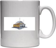Gemiler New York - Istanbul Kendin Tasarla - Beyaz Kupa