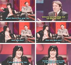 When Jonathan Ross tried to tell him that unicorns didn't exist. | 22 Times Noel Fielding Was The Most Weirdly Hilarious Man In Britain
