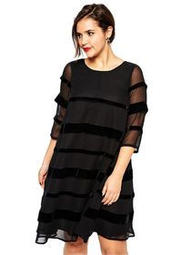 Plus Sizes 2XL-6XL Quarter Sleeve Dress