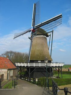 Windmill during Holland Bike tour Throughout The World, Around The Worlds, Holland Bike, Tilting At Windmills, Holland Windmills, Water Wheels, As Time Goes By, Le Moulin, Lighthouses