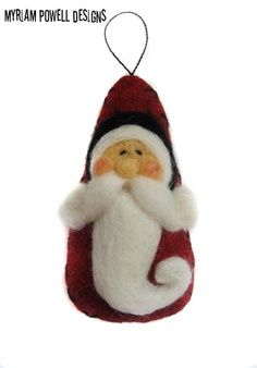 Christmas ornament -Santa Ornament Needle Felted Santa Santa Claus 2019 Christmas ornament Santa Ornament Nadel von MyriamPowellDesigns The post Christmas ornament -Santa Ornament Needle Felted Santa Santa Claus 2019 appeared first on Wool Diy. Santa Ornaments, Felt Christmas Ornaments, Christmas Decorations, Christmas Snowman, Needle Felted Ornaments, Felted Wool Crafts, Christmas Needle Felting, Felt Crafts, Holiday Crafts
