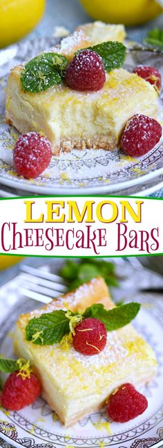 My Aunt Pam's Lemon Cheesecake Bars are made with lots of fresh lemon juice and zest so they're bursting with lemon flavor!