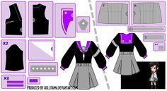 [OC] Nisa Sailor Fuku Cosplay Design Draft by Hollitaima.deviantart.com on @deviantART  Pattern