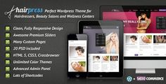 HairPress is a premium Wordpress Theme for hair salons, beauty salons, wellness centers or any similar local business website. It is very easy to setup and use.
