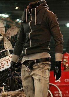Zip Closure Purfle Splicing Hoodies – teeteecee - fashion in style