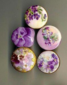 Porcelain Violet Buttons