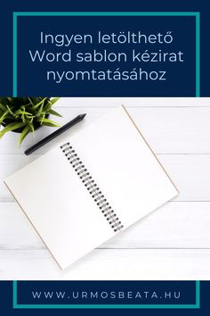 Ingyen letölthető Word sablon kézirat nyomtatásához Letter Board, Lettering, Writing, Drawing Letters, Being A Writer, Brush Lettering