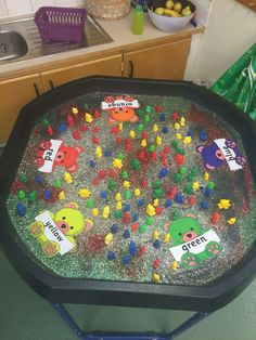 Going on a bear hunt! Color matching, fine motor, and fun!