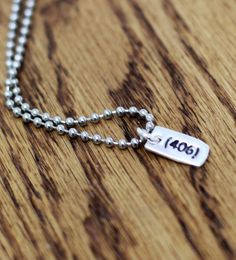 Rock your area code. This adorable necklace with a hand crafted charm. How can u not resist? #Montana #jewelry #necklace