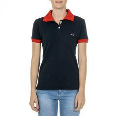 Andrew Charles Womens Polo Short Sleeves Dark Blue E Nia Red Color, Dark Blue, Short Sleeves, Polo, Slim, Mens Tops, Cotton, Clothes, Composition