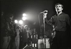 ROTTERDAM Photo of Joy Division, Ian Curtis performing live onstage at the Lantaren Joy Division, Division Games, Ian Curtis, Rock Songs, Rock Music, Stock Aitken Waterman, Reggae Style, Unknown Pleasures, Musica