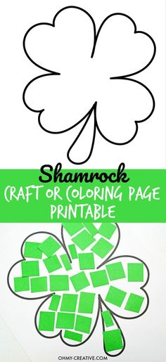 Cut And Paste Shamrock Template or Coloring Page – Oh My Creative Cut And Paste Shamrock Template or Coloring Page – Oh My Creative,St. Patrick's Day Events Use my referral code fvxknmj to earn. March Crafts, St Patrick's Day Crafts, Daycare Crafts, Preschool Crafts, Holiday Crafts, Craft Activities, Kids Crafts, Crafts For Preschoolers, Crafts For Toddlers