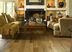 Create a cozy space with rustic Shaw Hardwood flooring. Shaw Hardwood, Engineered Hardwood Flooring, Hardwood Floors, Luxury Vinyl Flooring, Waterproof Flooring, Wood Laminate, Laminate Flooring, Flooring Options, Flooring Ideas